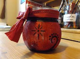 Red Fairy Jar by InsomniaDoodles