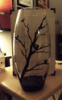 Barren Tree Vase by InsomniaDoodles