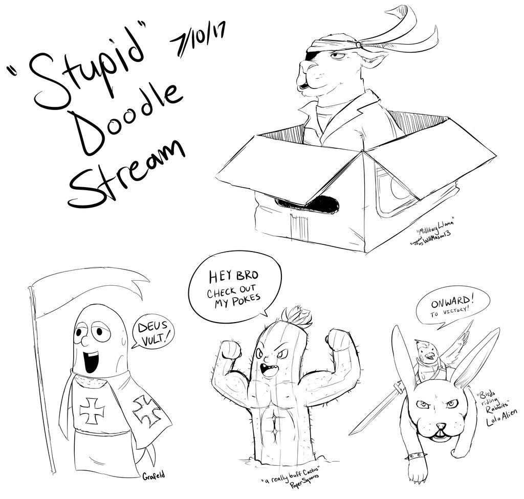 Stupid Doodle Stream   7-10   Blasphemy Tales by InsomniaDoodles