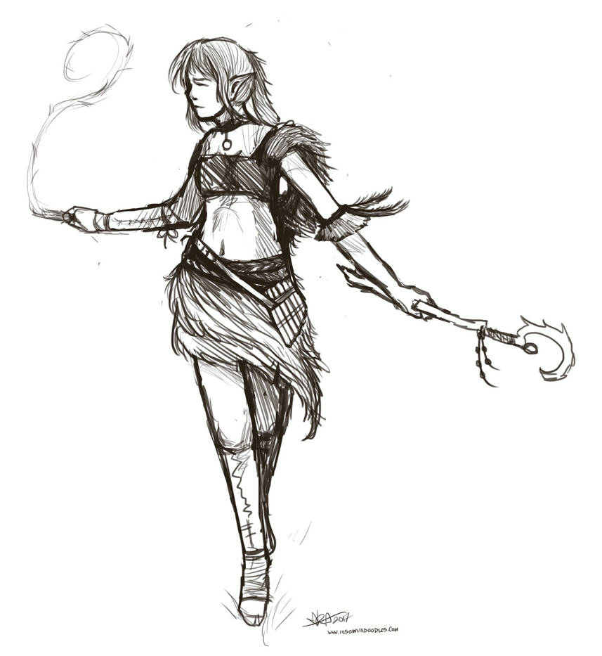 Bard Druid by InsomniaDoodles