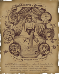 Colleen's Circus Poster by InsomniaDoodles