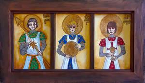 Grail Knights Triptych
