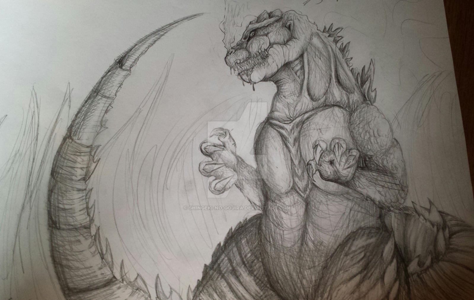 My Shin Gojira Concept By Shingeki No Gojira On Deviantart
