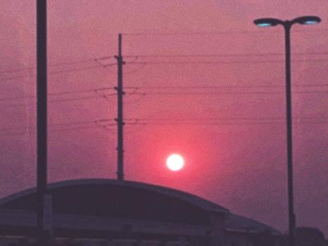 smoke and sunrise