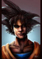 Son Goku Portrait by 0Galath0