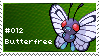Butterfree Stamp by lightpurge