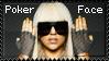 Poker Face Lady GaGa Stamp