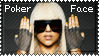 Poker Face Lady GaGa Stamp by lightpurge