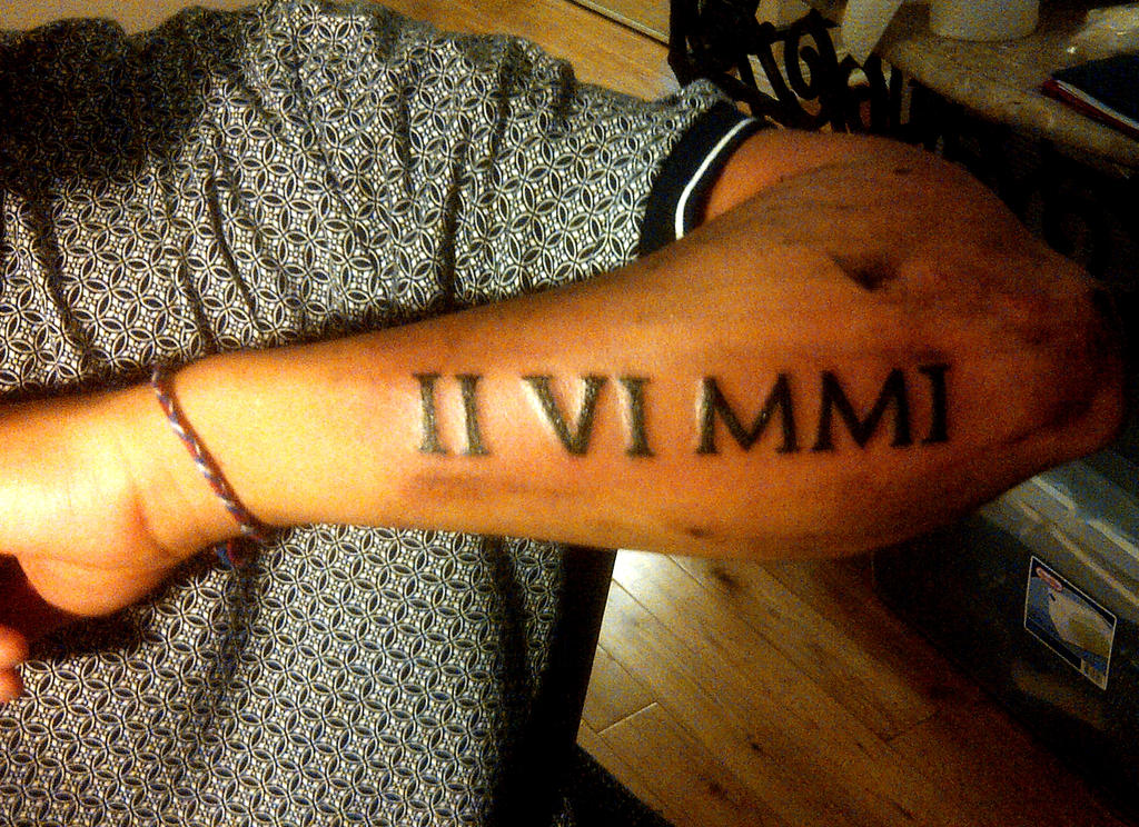 Roman Numeral 5 Tattoo Designs