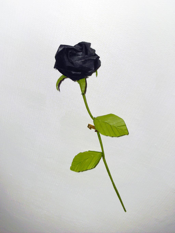 Black Origami Kawasaki Rose by CreaLyon on DeviantArt - photo#12