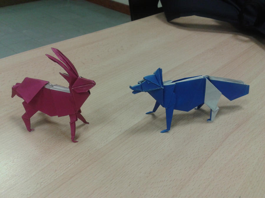 Antelope vs Fox by CreaLyon