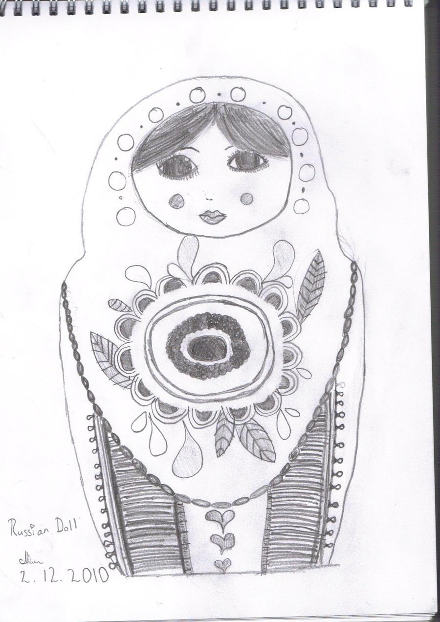 Russian Doll Sketch By VioletYurii On DeviantArt