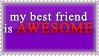 My Best Friend ..Stamp01 by VioletYurii