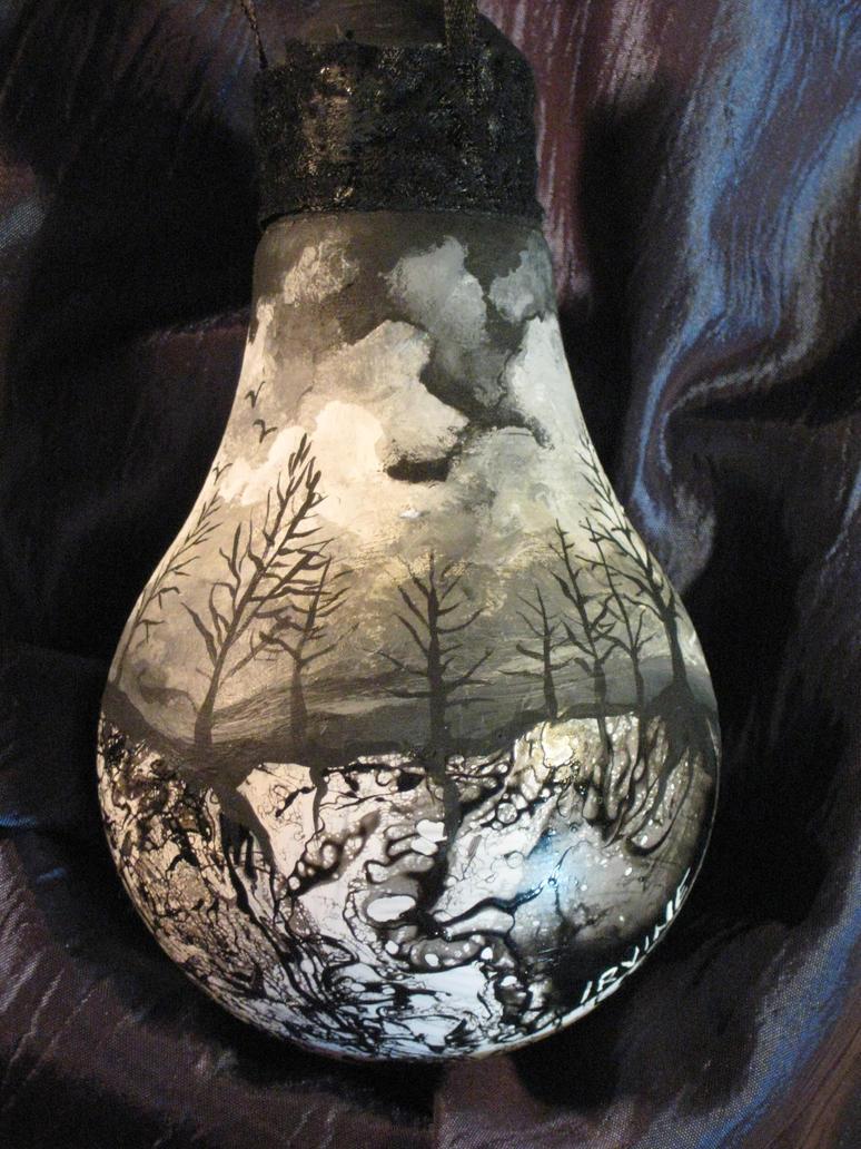 Light bulb ornaments - Lightbulb Ornament By The Gnarled Branch