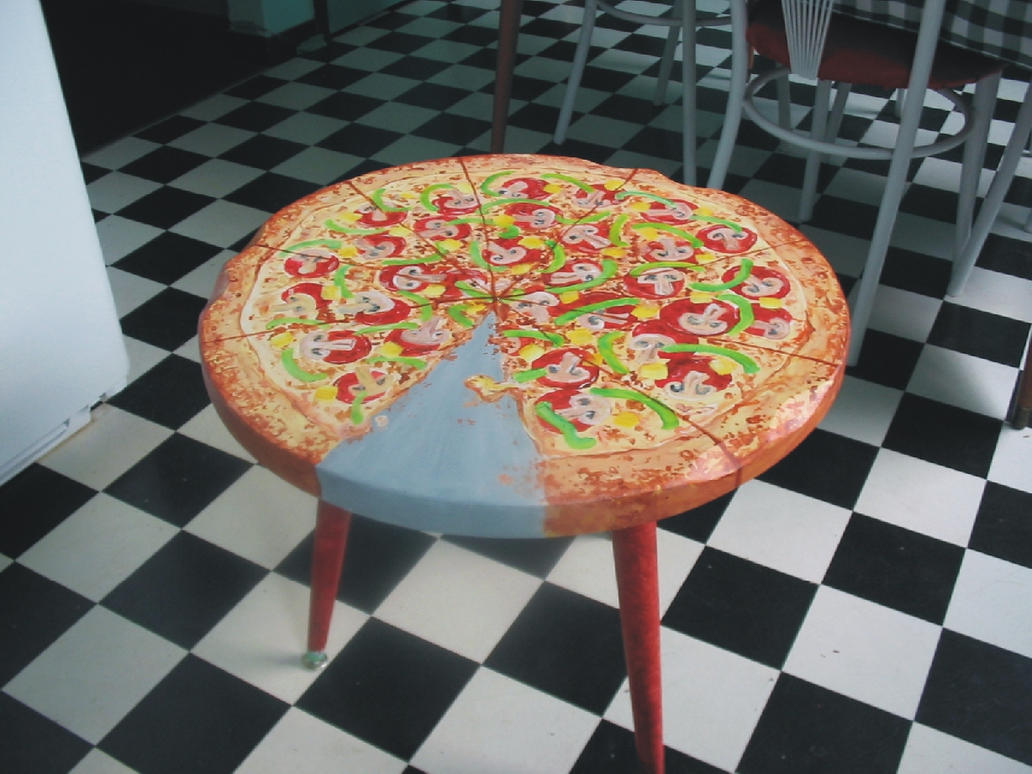Pizza table by the gnarled branch on deviantart for Table 5 pizza