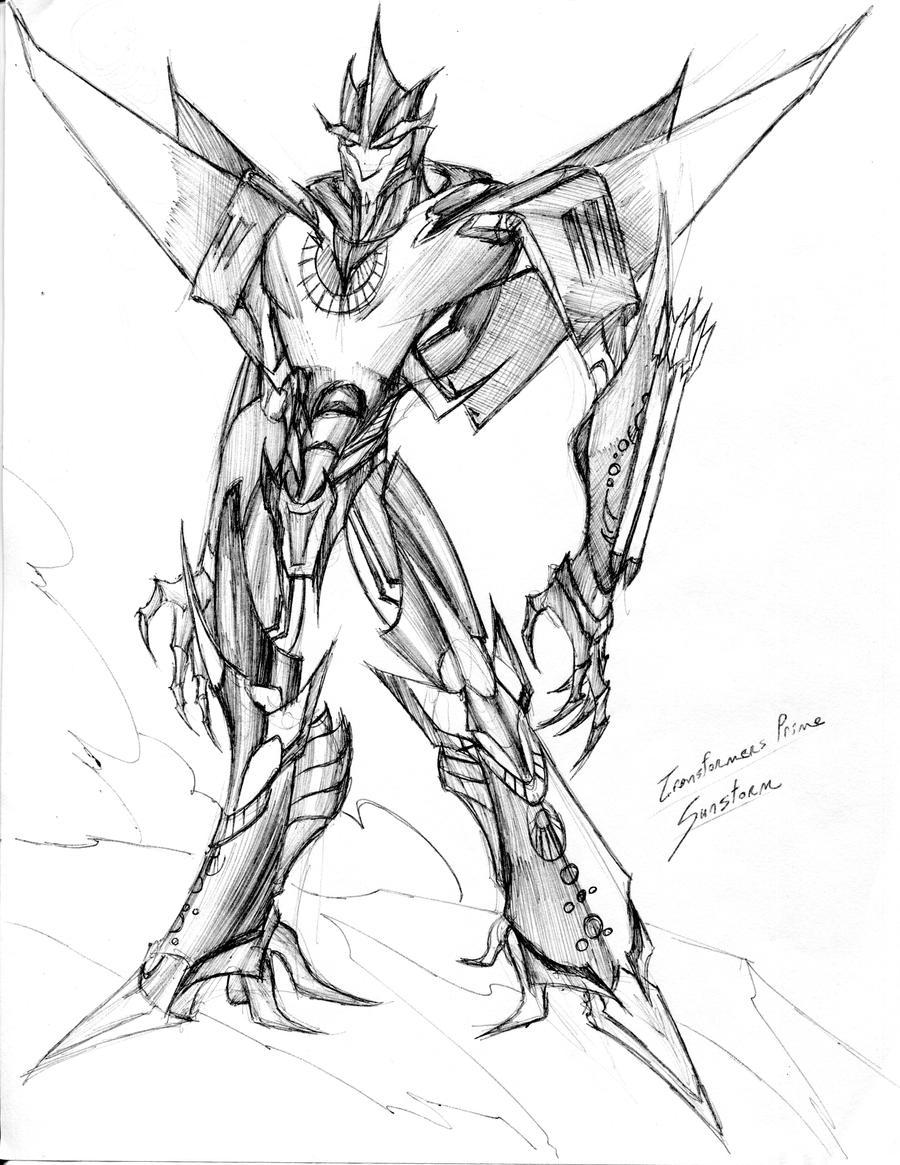 Sunstrom transformers prime by winddragon24 on deviantart for Starscream coloring page