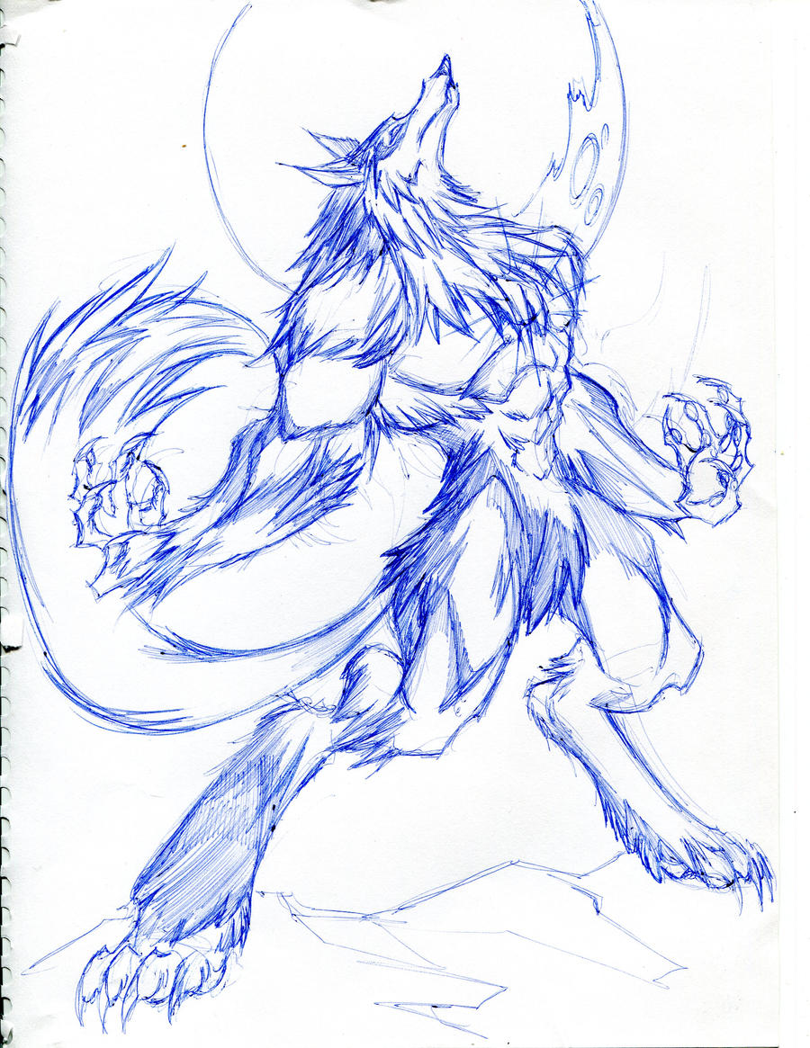 easy drawings of werewolves - photo #22