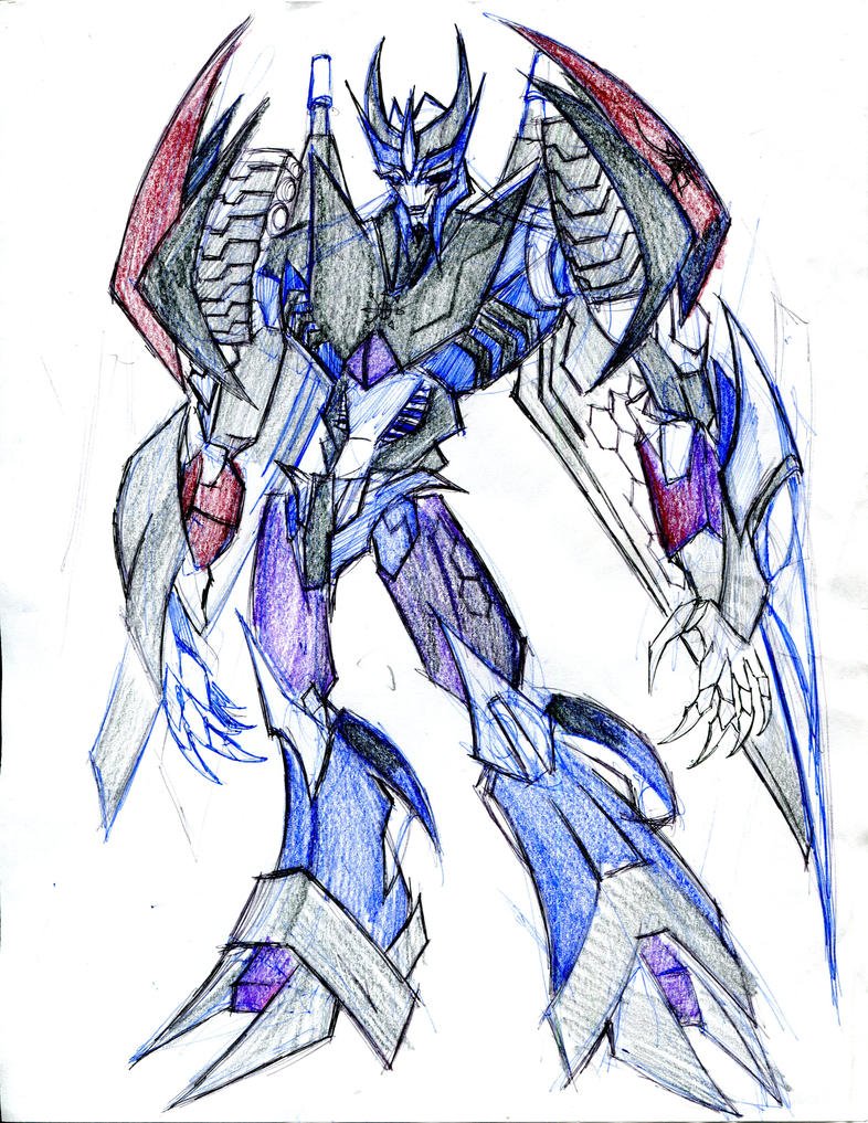 Megablaster - oc tfp by winddragon24
