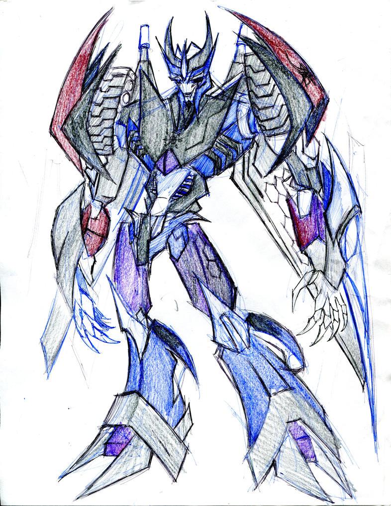 Megablaster - oc tfp by winddragon24