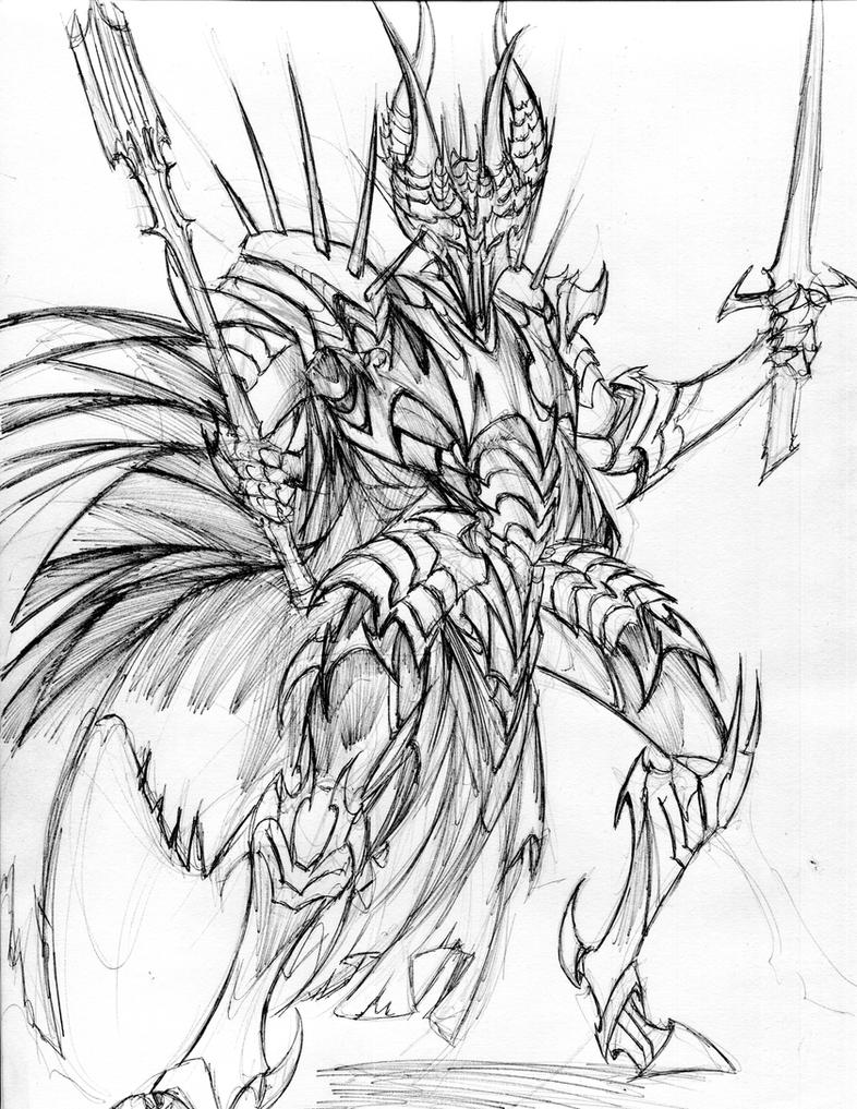 The dark lord Sauron by winddragon24 on DeviantArt
