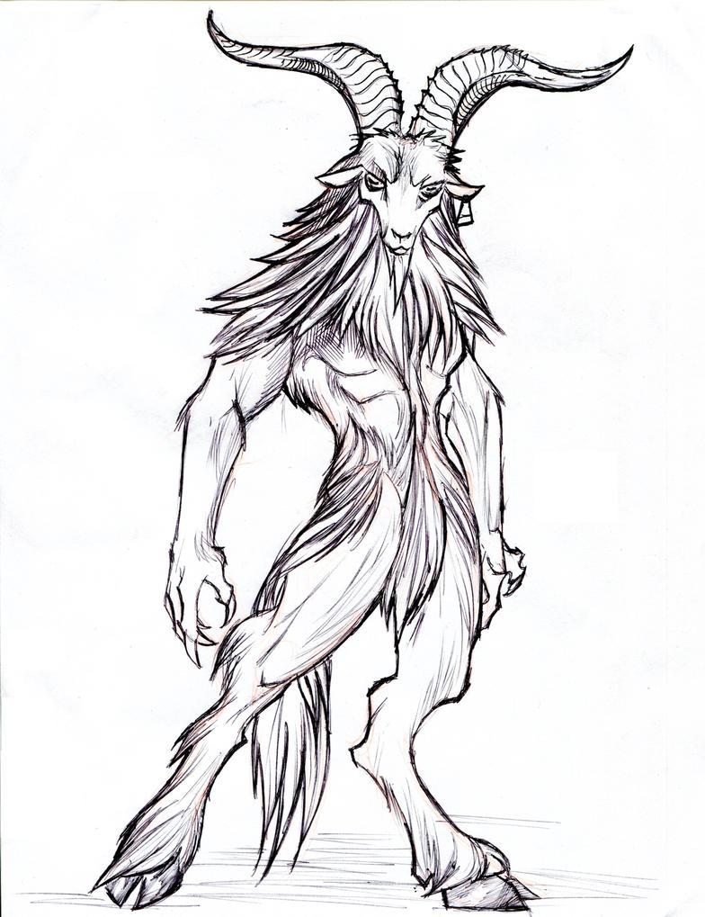 Satyr goat demon by winddragon24 on deviantart satyr goat demon by winddragon24 ccuart Images