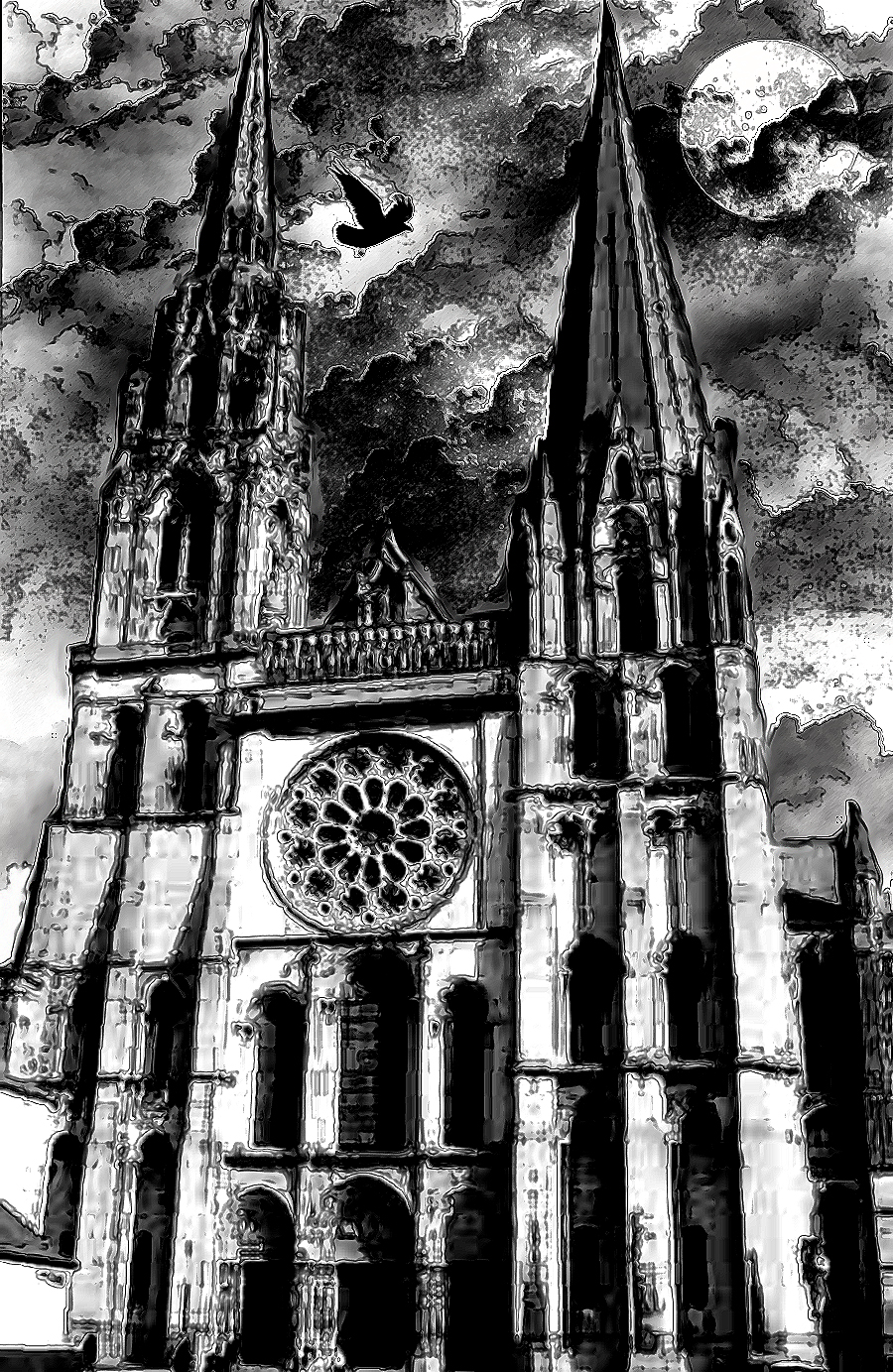 Gothic Church Crow 5 By LonelySpectre