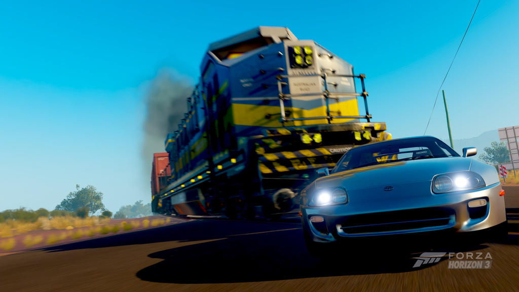Toyota Supra Top View >> Supra Vs Train | Forza Horizon 3 by Talex0211 on DeviantArt