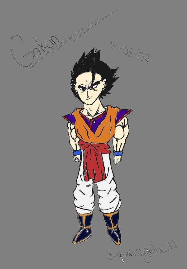 Gokan  fusion  Goku and Gohan by Super-Vegeta-NFGohan And Vegeta Fusion