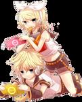 Kagamine Rin and Kagamine Len Render 2