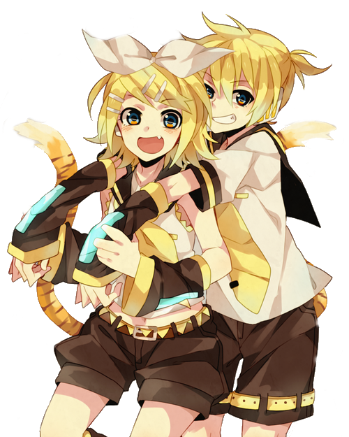 Kagamine Rin and Len Render by KiritoWaifu