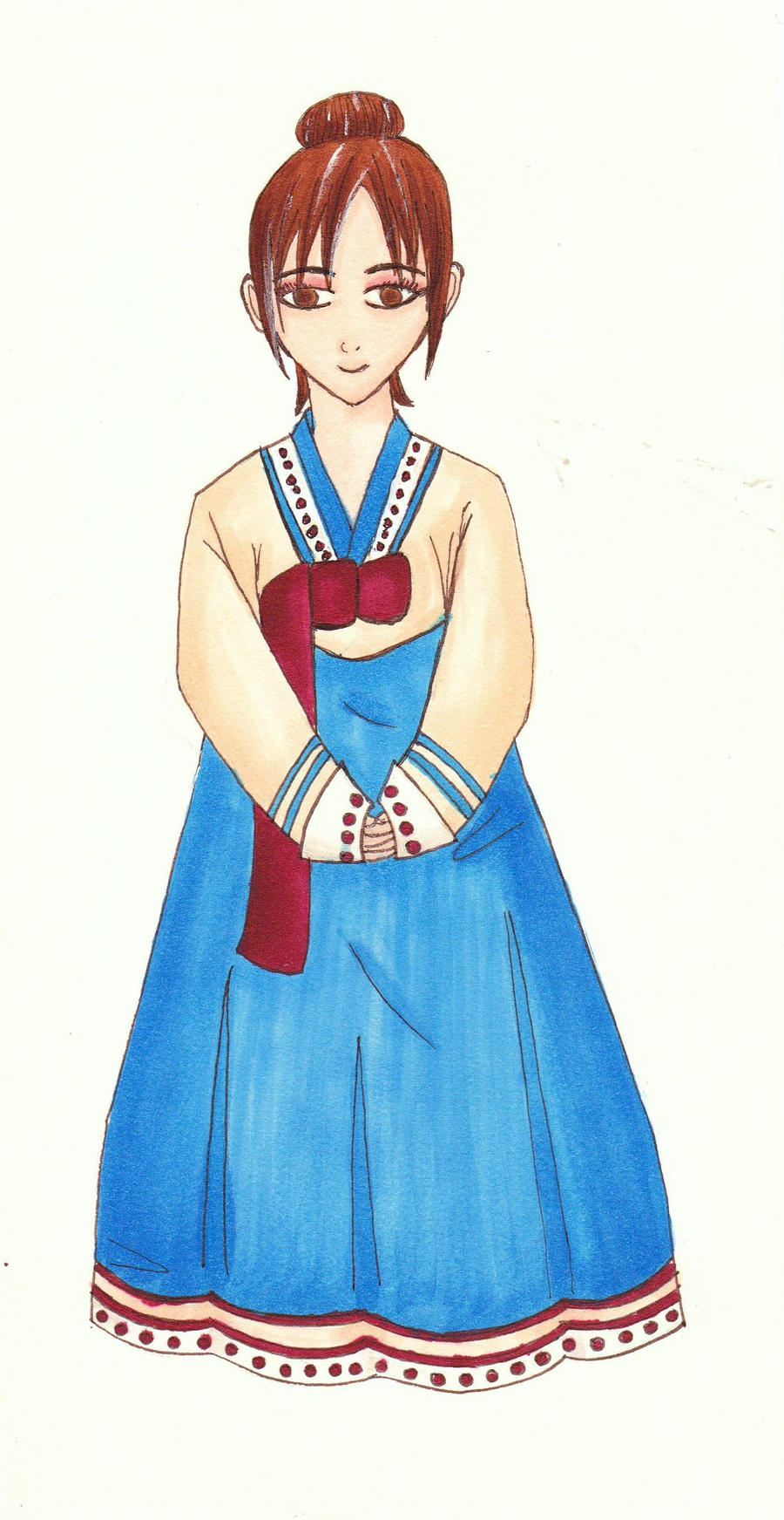 the gallery for gt korean traditional dress drawing for men