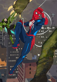 Spider-Man vs Electro and Vulture