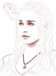Daenerys Targaryen by sergemalivert