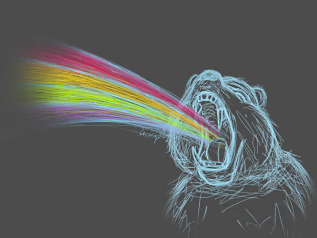 Taste The Rainbow Bear by katieraff on DeviantArt