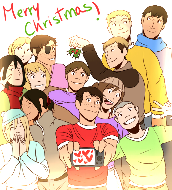 SnK- MERRY CHRISTMAS! by o-Kairos-o