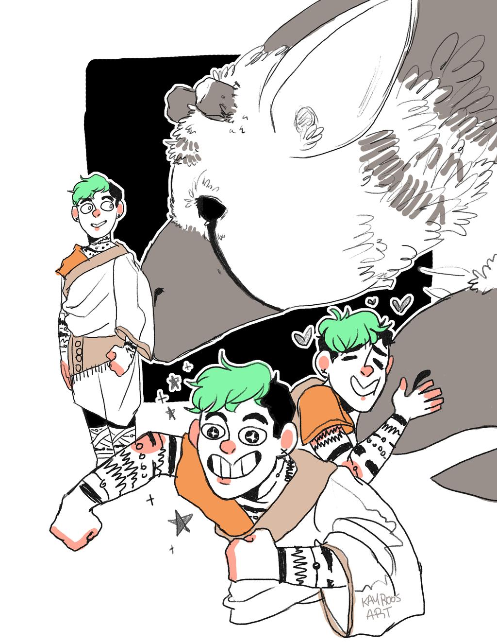 The last guardian jack doodles by kayroos on deviantart for Decor 52 fan celano ma dw