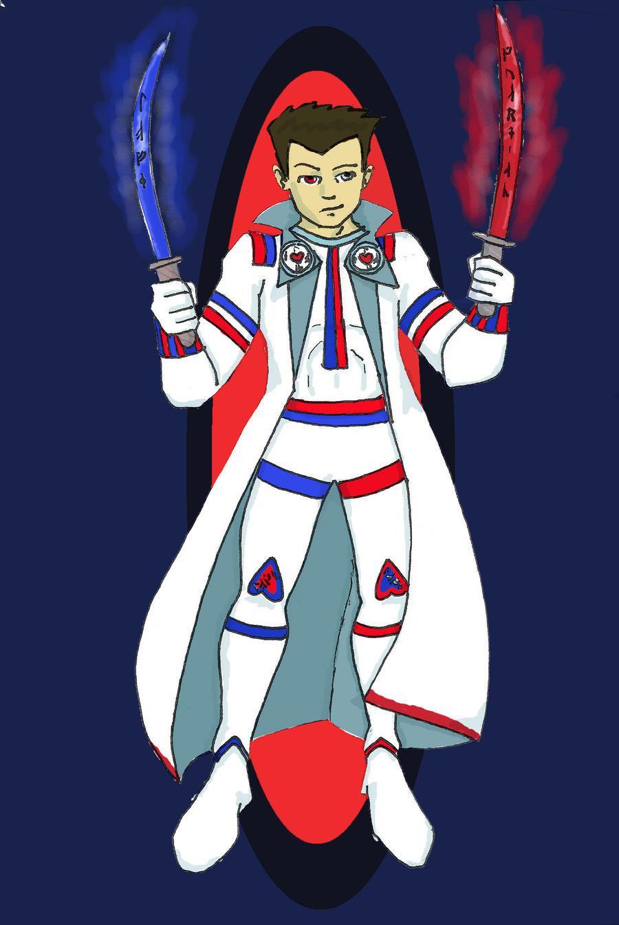 Tri-Spirit Warrior by heartsyhawk