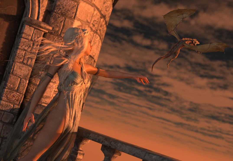 Dragon Mistress by WimVanDeBospoort