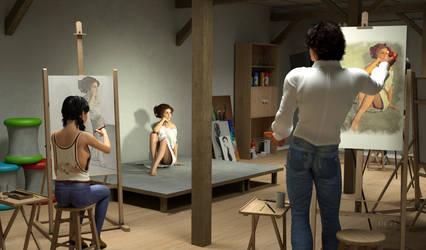 Painting the model by WimVanDeBospoort