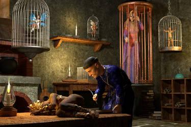 The Fairy Collector by WimVanDeBospoort