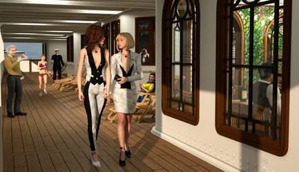 Together we walk the promenade