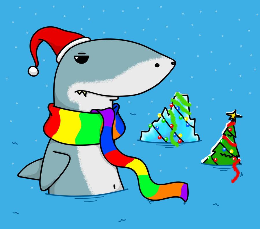 Sharks don't like Christmas by Comrade-Max
