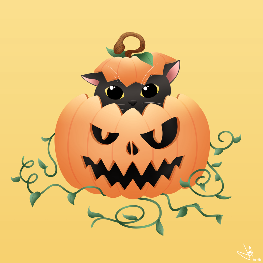 Pumpkin Cat by JolenarOfMalkshur