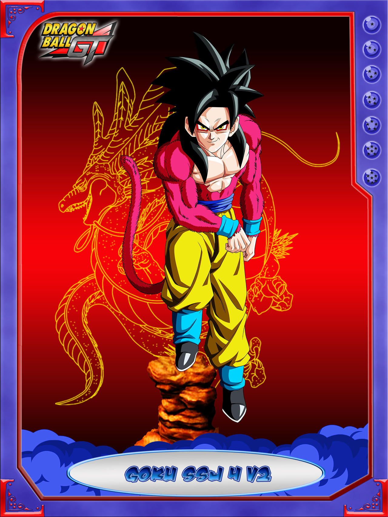 DBCU Goku SSJ4 V2 by cdzdbzGOKU