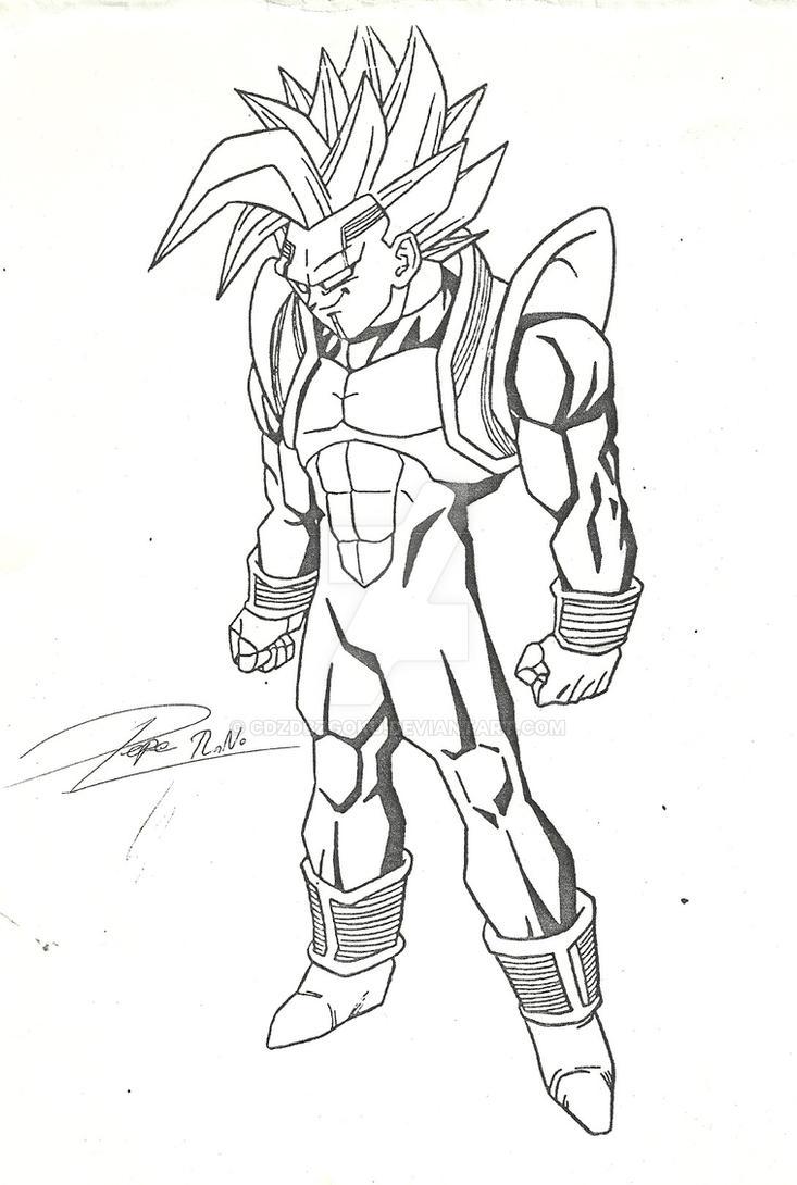 Super Baby Vegeta Draw 2000 by cdzdbzGOKU on DeviantArt