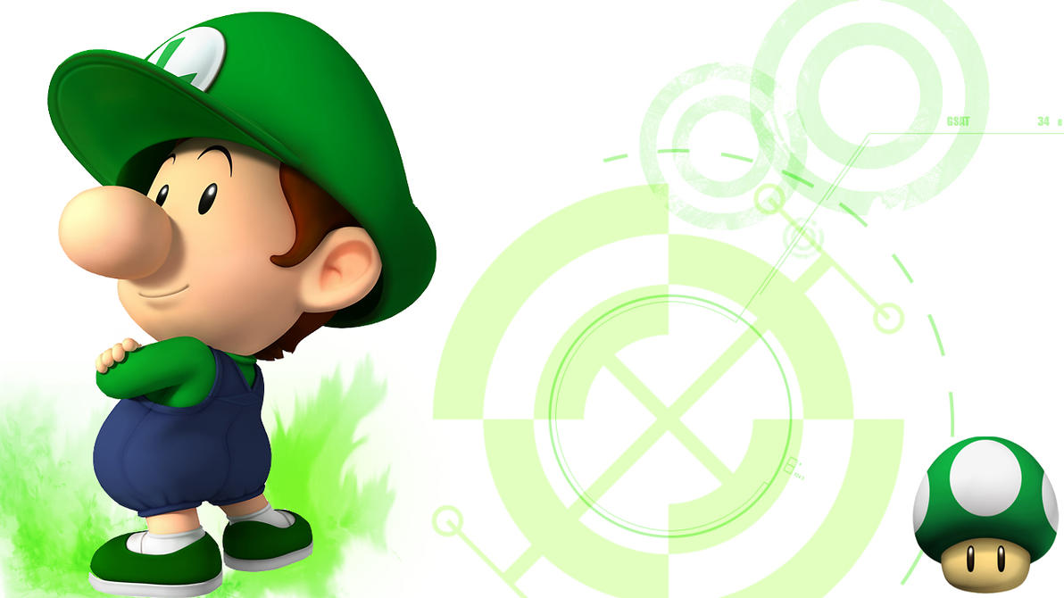 baby luigi wallpaper by linkintek06