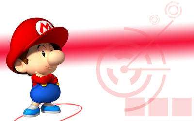 Baby Mario Wallpaper by linkintek06
