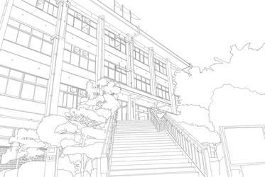 Heiji-Uji High School Line Art by ChiharuOnizuka