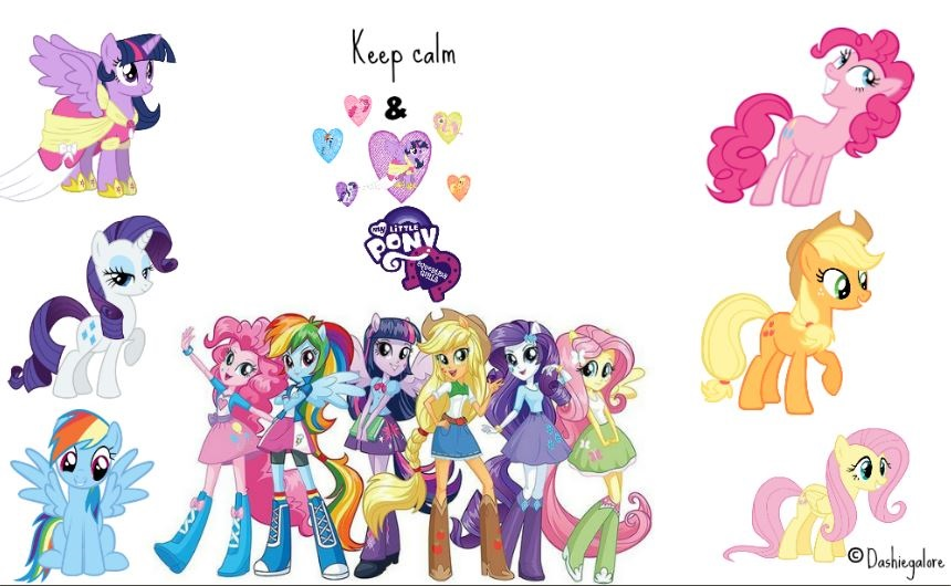 Keep Calm And Love EQG By Dashiegalore
