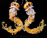 Yellow Jellyfish earrings